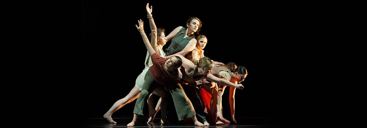 University of Iowa Department of Dance students in performance