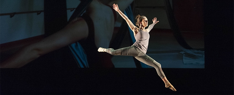 Undergraduate dancer performing at Space Place Theatre