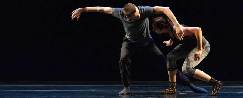 Two dancers performing at Space Place Theater